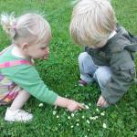 Kinderopvang Poppejans Groningen - zoeken naar madeliefjes